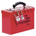 Portable Group Lockout Box - RED
