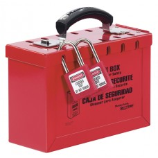 Portable Group Lockout Box, RED