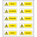 10 x Office Labels (Various Machinery) - 40 x 18mm