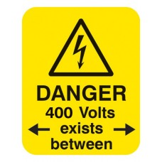 Danger 400 Volts <-exists Between->