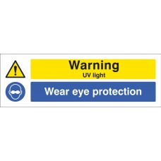 Warning - UV Light, Wear Eye Protection