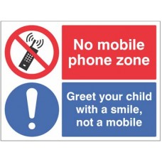 No mobile phone zone Greet your child with a smile?
