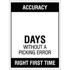 Accuracy ? Days without a picking error, 450x600mm rigid PVC with wipe clean over laminate