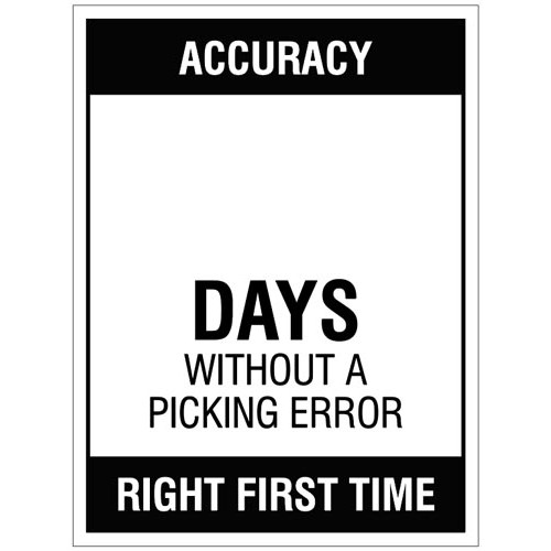 Accuracy ? Days without a picking error - 450x600mm rigid PVC with wipe clean over laminate