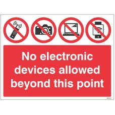 No electronic devices allowed beyond this point