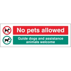 No Pets allowed - Guide dogs and assistance animals welcome