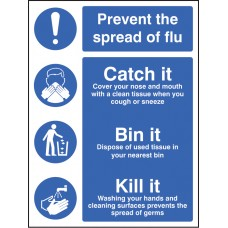 Prevent the Spread of Flu - Catch it Bin it Kill It