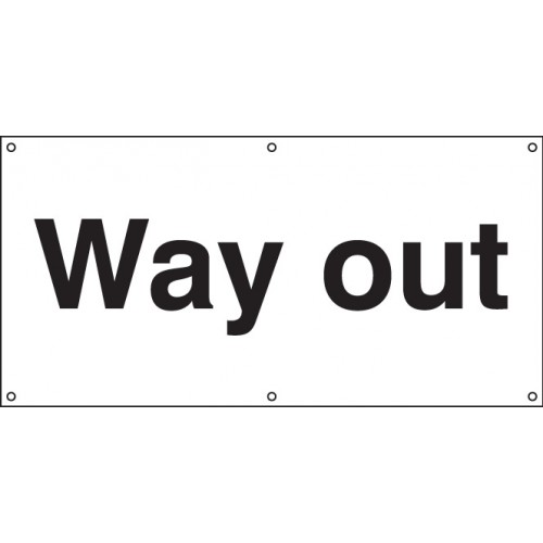 Way Out - Banner with Eyelets