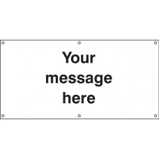Design Your Own - Banner with Eyelets - 1270 x 610mm