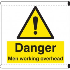 Scaffold Banner - Danger Men Working Overhead (with Loops)