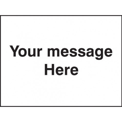 Door Screen Sign - Your Message Here