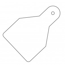 20 x Plain ID Wide Flag Tags - White - Roll of 100 65mm