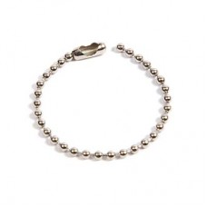 100mm Metal Ball Chain with Connector (Pack of 50)