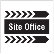 Site Office, Arrow Right - Site Saver Sign - 400 x 400mm