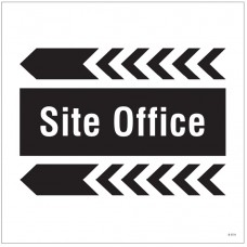 Site Office - Arrow Left - Site Saver Sign - 400 x 400mm