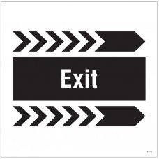 Exit - Arrow Right - Site Saver Sign - 400 x 400mm