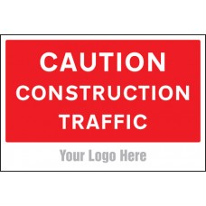 Caution - Construction Traffic - Site Saver Sign - 600 x 400mm