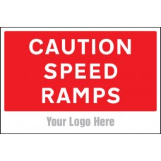 Caution - Speed Ramps - Site Saver Sign - 600 x 400mm
