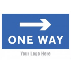 One Way - Arrow Right - Site Saver Sign - 600 x 400mm
