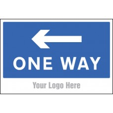 One Way, Arrow Left - Site Saver Sign - 600 x 400mm