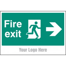 Fire Exit - Arrow Right - Site Saver