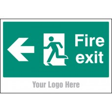 Fire Exit - Arrow Left - Site Saver