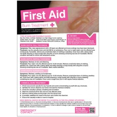 First Aid Burns Poster - 420 x 594mm