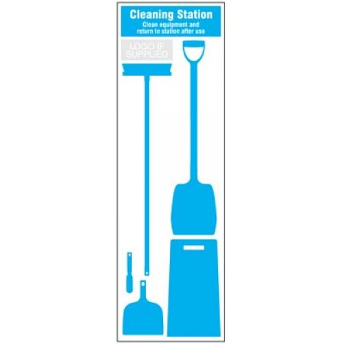 Cleaning Station Shadow Board - 5 piece