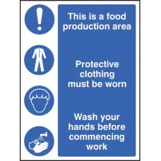 Food Production Area/protective Clothing/Wash Hands