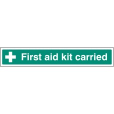 First Aid Kit Carried - Window Sticker