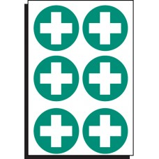 6 x First Aid Symbol - 65mm Dia.