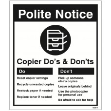 Photocopier - Do's & Don'ts
