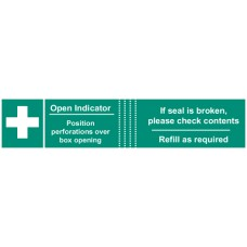 50 x First Aid Box Tamper Labels - 82 x 23mm