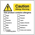 Caution - Allergy Warning - this Product Contains Allergens