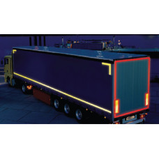 Yellow Lorry Marking Contour Tape 55mm x 12.5m (Rigid Vehicle)