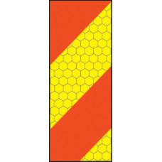 ECE70 Vehicle Marking Plate - Left Hand Vertical Chevron - 140 x 300mm