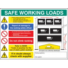 Safe Working Load - Pallet Racking Sign