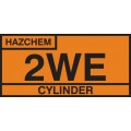 2WE Cylinder Storage Placard - Aluminium