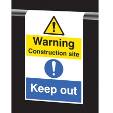 Roll Top - Warning - Construction Site - Keep Out