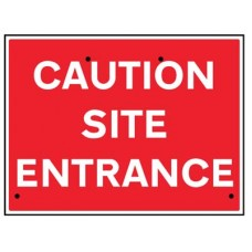 Re-Flex Sign - Caution site entrance