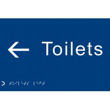 Braille - Toilets, Arrow Left <---