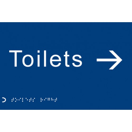 Braille - Toilets, Arrow Right --->