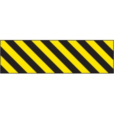 Hazard Marker (Right Hand) - Reflective Aluminium - 600 x 150mm