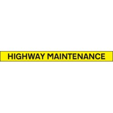 Highway Maintenance - Reflective Self Adhesive Vinyl - 1300 x 100mm