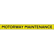 Motorway Maintenance - Reflective Self Adhesive Vinyl - 1300 x 100mm
