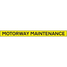 Motorway Maintenance - Reflective Magnetic - 1300 x 100mm