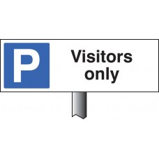 Parking Visitors Only Verge Sign