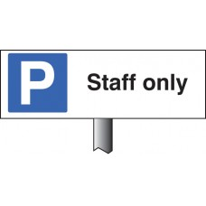 Parking Staff Only Verge Sign