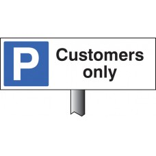 Parking Customers Only Verge Sign