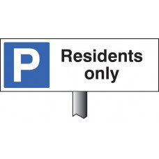 Parking Residents Only Verge Sign